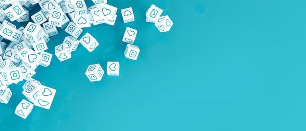 De conceptenkunst op het thema van sociale voorzien van een netwerk 3d illustratie