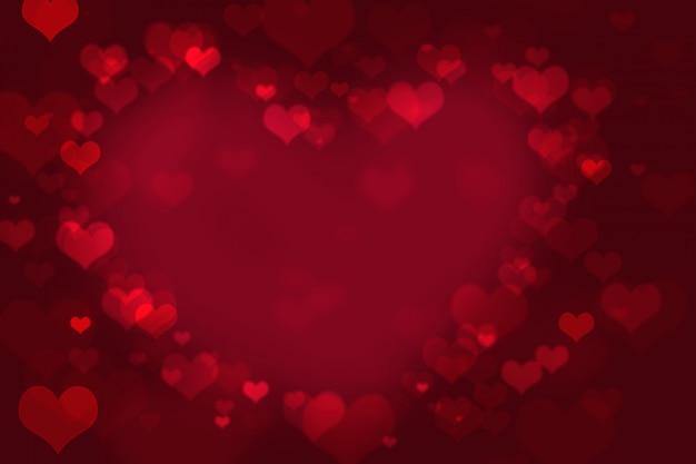 De dagachtergrond van valentine met harten.