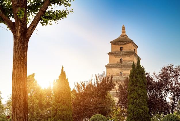 De dayan-pagode is een monumentaal gebouw in xi'an.