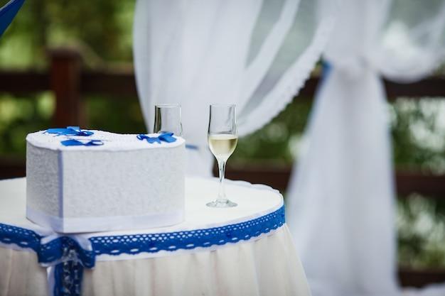 De decoraties voor huwelijksceremonie