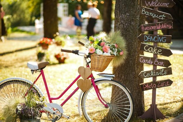De decoratieve fiets