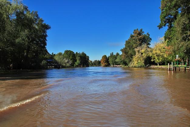 De delta van de rivier de tigre, buenos aires, argentinië