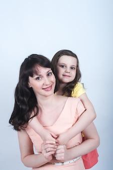 De dochter en moeder samen