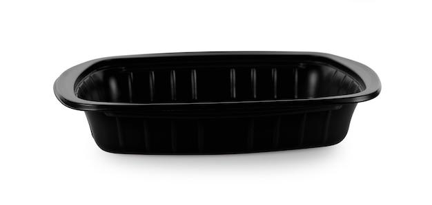 De doos van het voedselbehoud op witte achtergrond