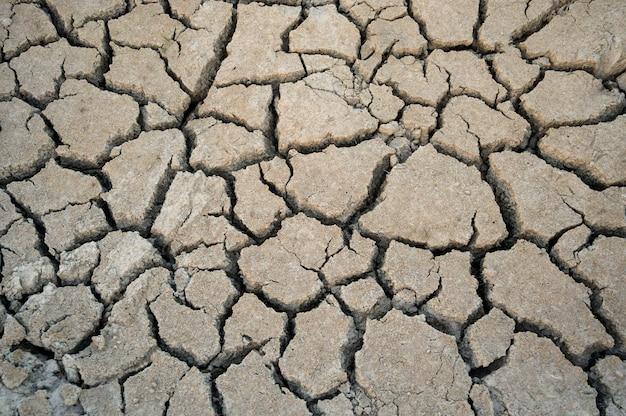 De droogte van de grond kraakt textuurachtergrond voor ontwerp.