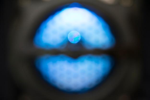 De dynamiek van de goede luidsprekers defocused light background.