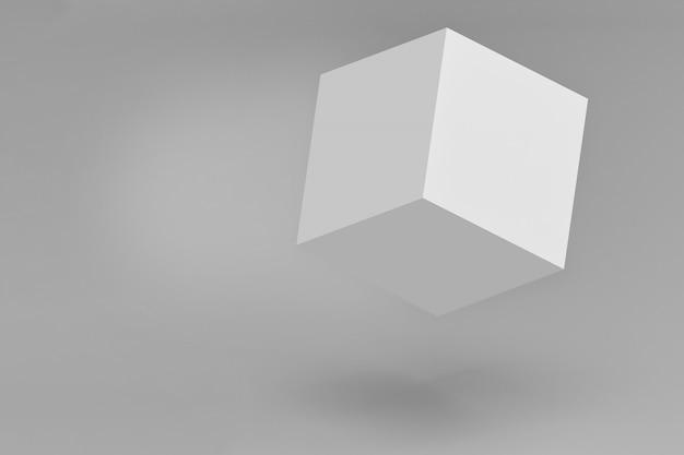 De eenvoudige 3d kubusdoos isoleert met het knippen van weg