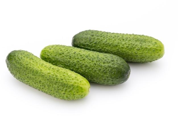 De eerste lente ecologisch komkommers.