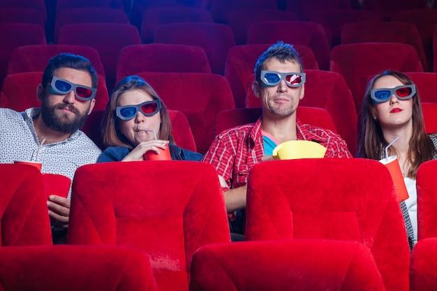 De emoties van de mensen in de bioscoop