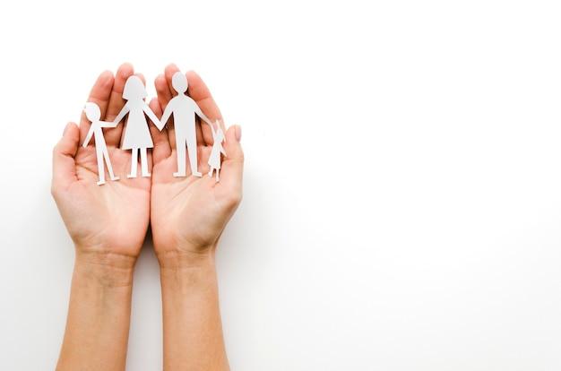 De familiesamenstelling van het document met exemplaarruimte