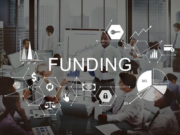 De financiering investeert het financiële concept van de geldbegroting