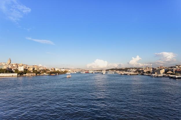 De galata-brug (in het turks galata koprusu) is een brug die de gouden hoorn overspant in istanbul, turkije