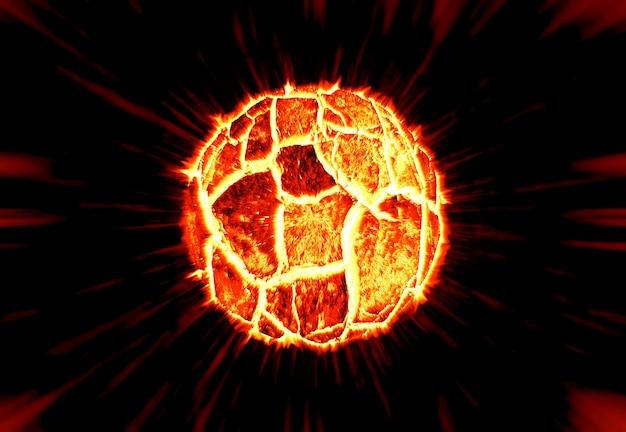 De gebarsten zonnebrand explosie op de ruimte. illustratie.