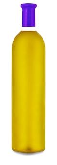 De gekleurde wijnfles geïsoleerd