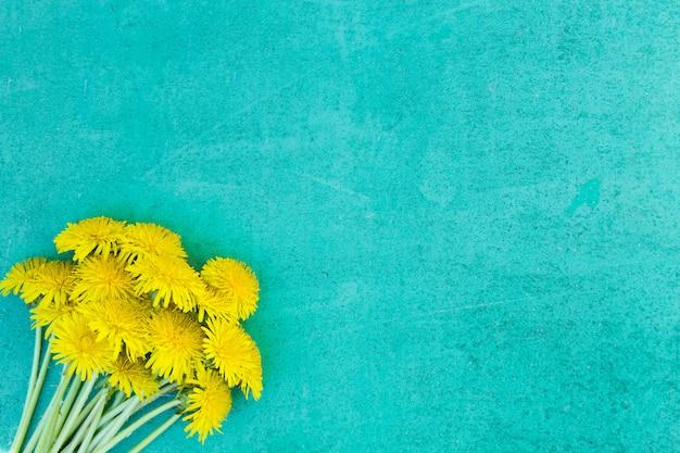 De gele en blauwe achtergrond van de moederdag