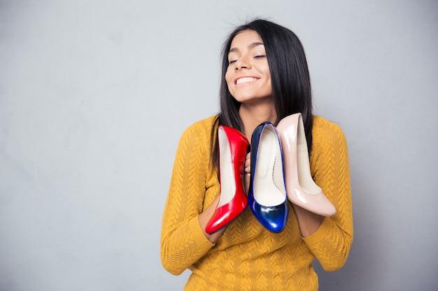 De gelukkige schoenen van de vrouwenholding