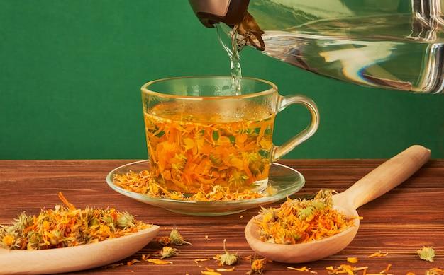 De genezende eigenschappen van calendula-thee.