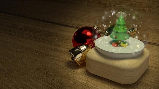 De glazen bol van kerstmis voor vieringskerstmis