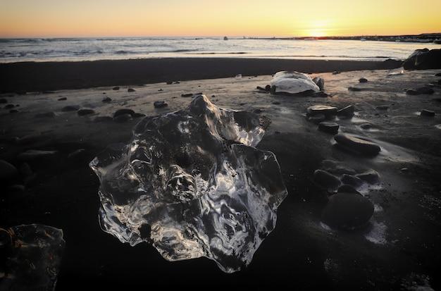 De gletsjerlagune, jokulsarlon, ijsland