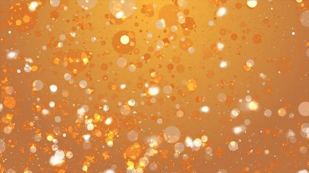 De gouden bokeh abstracte achtergrond defocused lichten