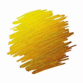 De gouden borstel stookt textuur op witte illustratie als achtergrond op
