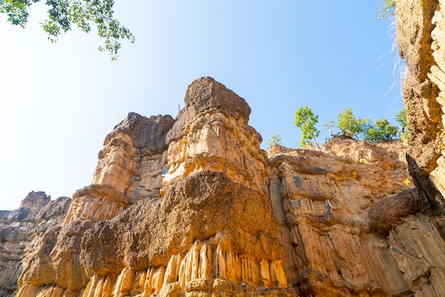 De grand canyon chiang mai of pha chor in mae wang national park, chiang mai, thailand
