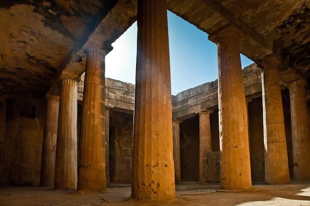De graven van de koningen unesco-werelderfgoed in de stad paphos, cyprus