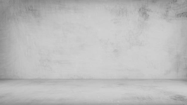 De grijze verftextuur op muur en vloer voor binnen verfraait.
