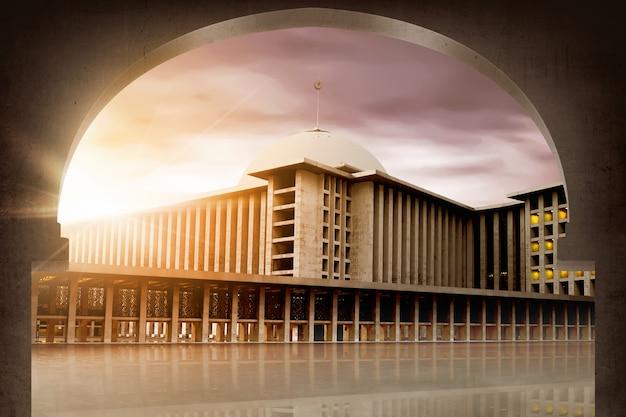 De grote aziatische moskee