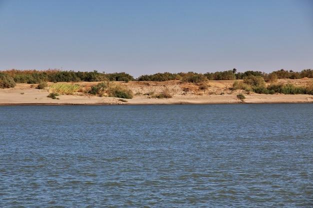De grote rivier de nijl, soedan, afrika