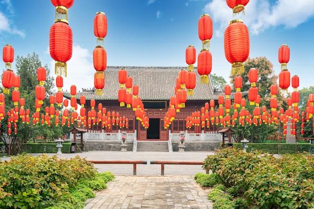 De grote zaal van de zhougong-tempel heeft een geschiedenis van meer dan 400 jaar, luoyang, china.