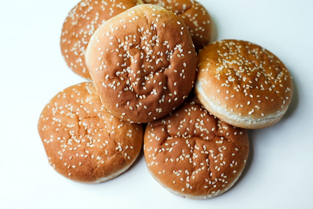 De hamburgerbroodjes