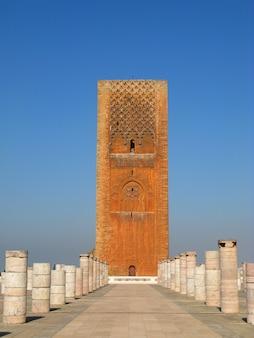 De hassan-toren, rabat, marokko