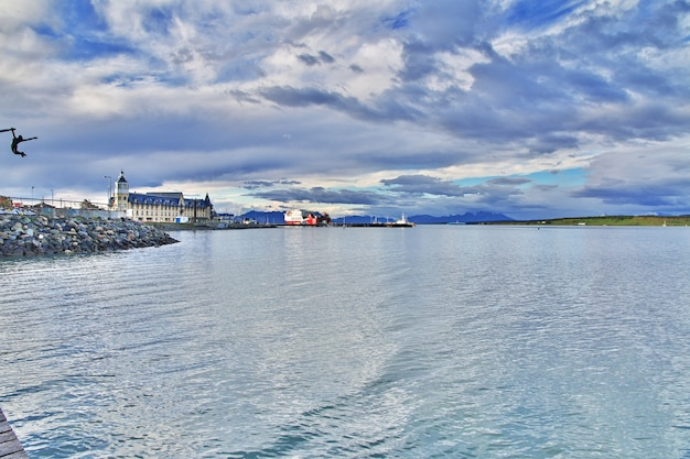 De haven in puerto natales, chili