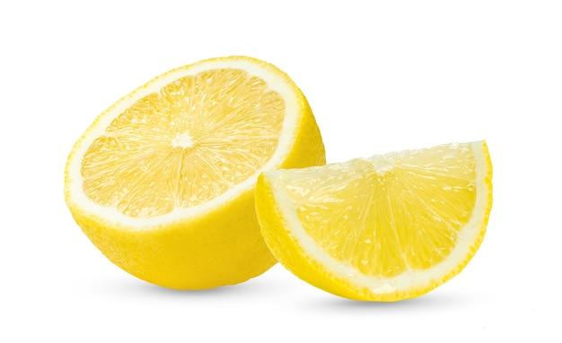 De helft van de citroen geïsoleerd