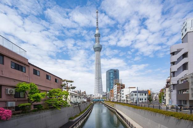 De hemel van tokyo boom de beroemde plaats in de stad van tokyo, japan