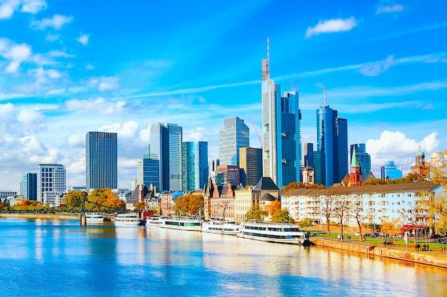 De hoofdwolkenkrabbers van frankfurt
