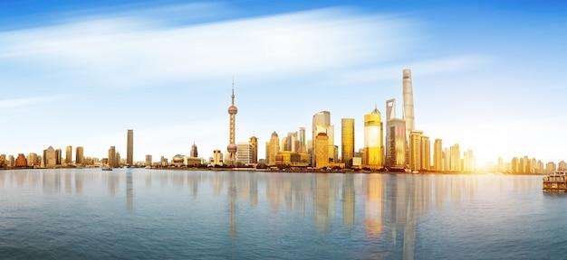 De horizon en cityscape van shanghai