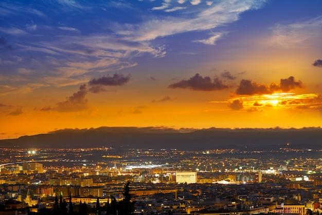 De horizonmening van granada van albaicin spanje
