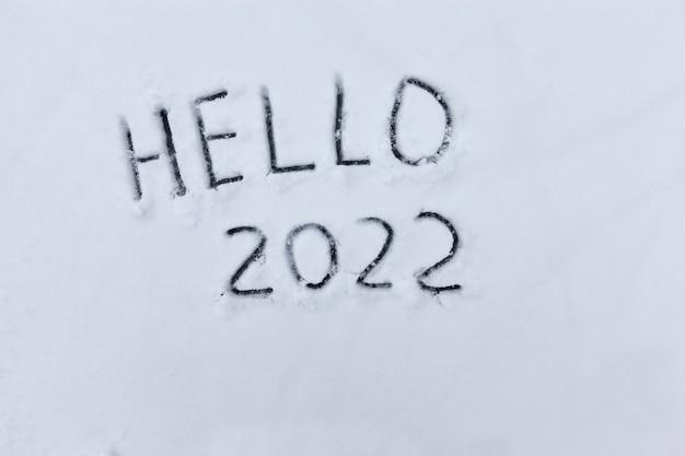De inscriptie over het begin van het nieuwe jaar 2022