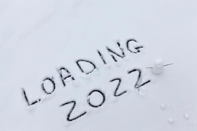 De inscriptie over het nieuwe jaar 2022