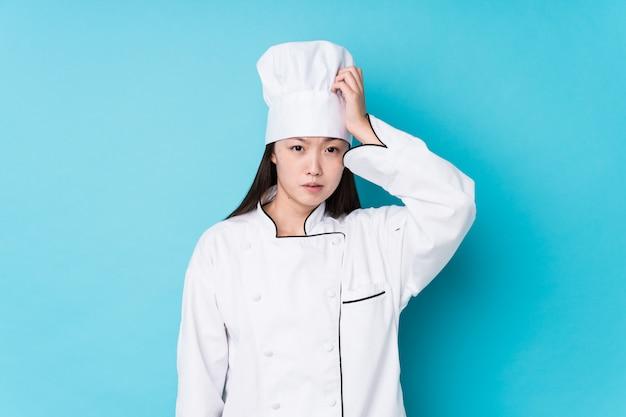 De jonge chinese chef-kokvrouw isoleerde geschokt, heeft zij belangrijke vergadering herinnerd.