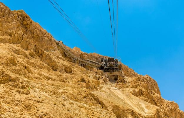 De kabelbaan naar het fort van masada - israël