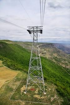 De kabelbaan naar het klooster van tatev, armenië