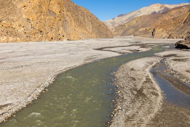 De kali gandaki river-vallei, de onderste mustang