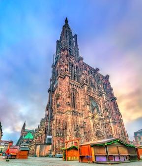 De kathedraal notre-dame van straatsburg, frankrijk