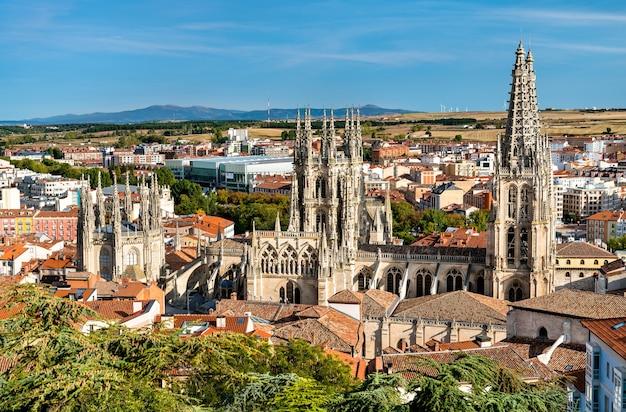De kathedraal van sint-maria van burgos in spanje