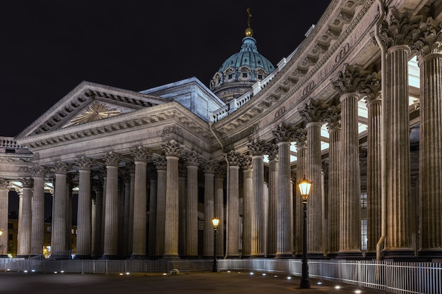 De kazankathedraal sint-petersburg rusland