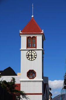 De kerk in de stad ushuaia op tierra del fuego, argentinië