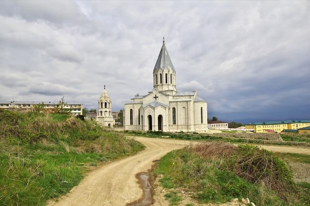 De kerk in shushi-stad, nagorno - karabach, de kaukasus